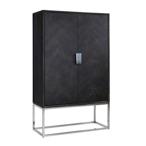 Wandkast Blackbone Silver 2-deuren laag