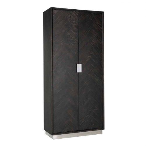 Wandkast Blackbone silver 2-deuren hoog