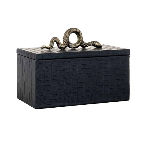 Jewellyery Box Charly Snake Black