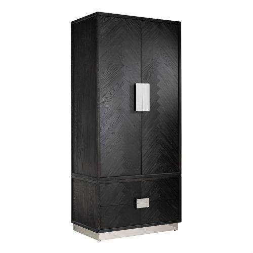 Linnenkast Blackbone silver 2-deuren 2-laden