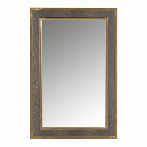 Spiegel Bara met gouden rand