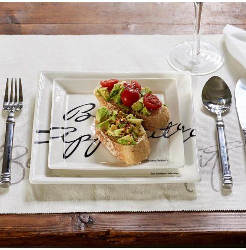Buon Appetito Square Plate 18 x 18