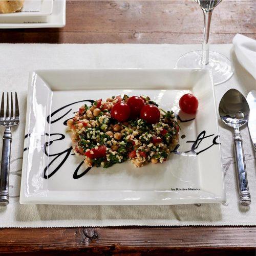 Buon Appetito Square Plate 26 x 26