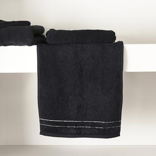 Rivièra Maison Elegant Guest Towel black 50x30