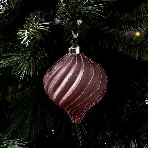 Ballad Mauve Swirl Ornament