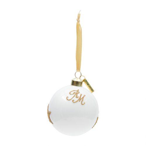 RM Christmas Star Ornament white Dia 8