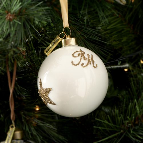 RM Christmas Star Ornament white Dia 8