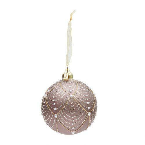 RM Ballad Mauve Pearl Ornament Dia 10