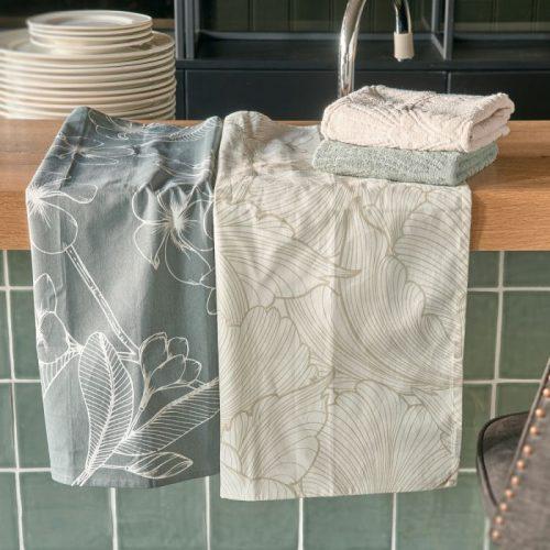 RM Les Fleurs Tea Towel 2 pieces