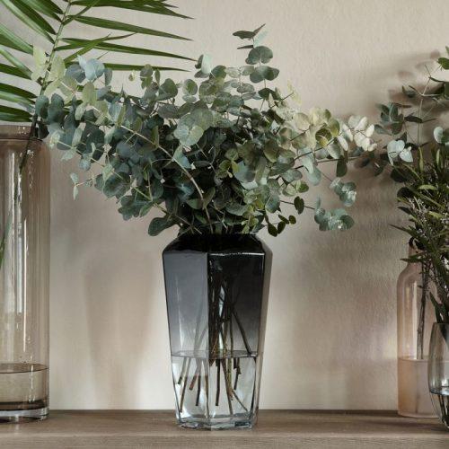 RM Midnight Hegaxon Vase Grey